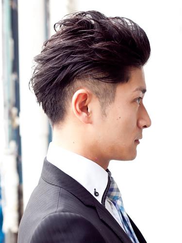 薄毛 髪型 オールバック
